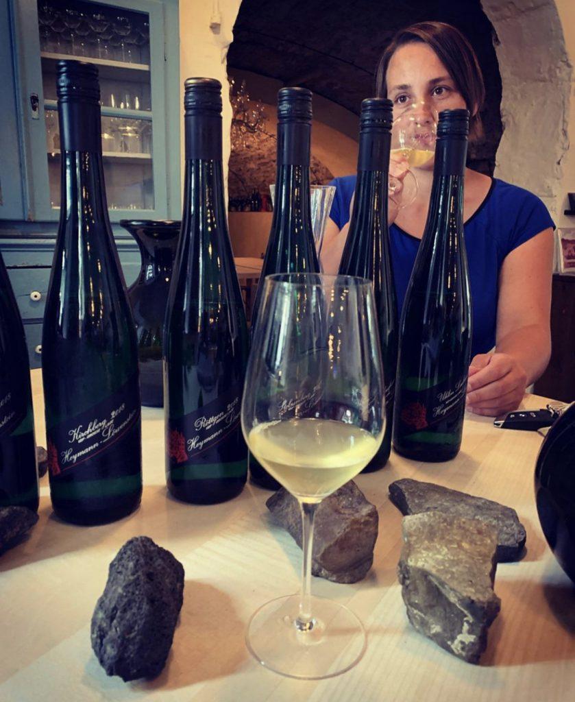 Sarah Löwenstein at the winery