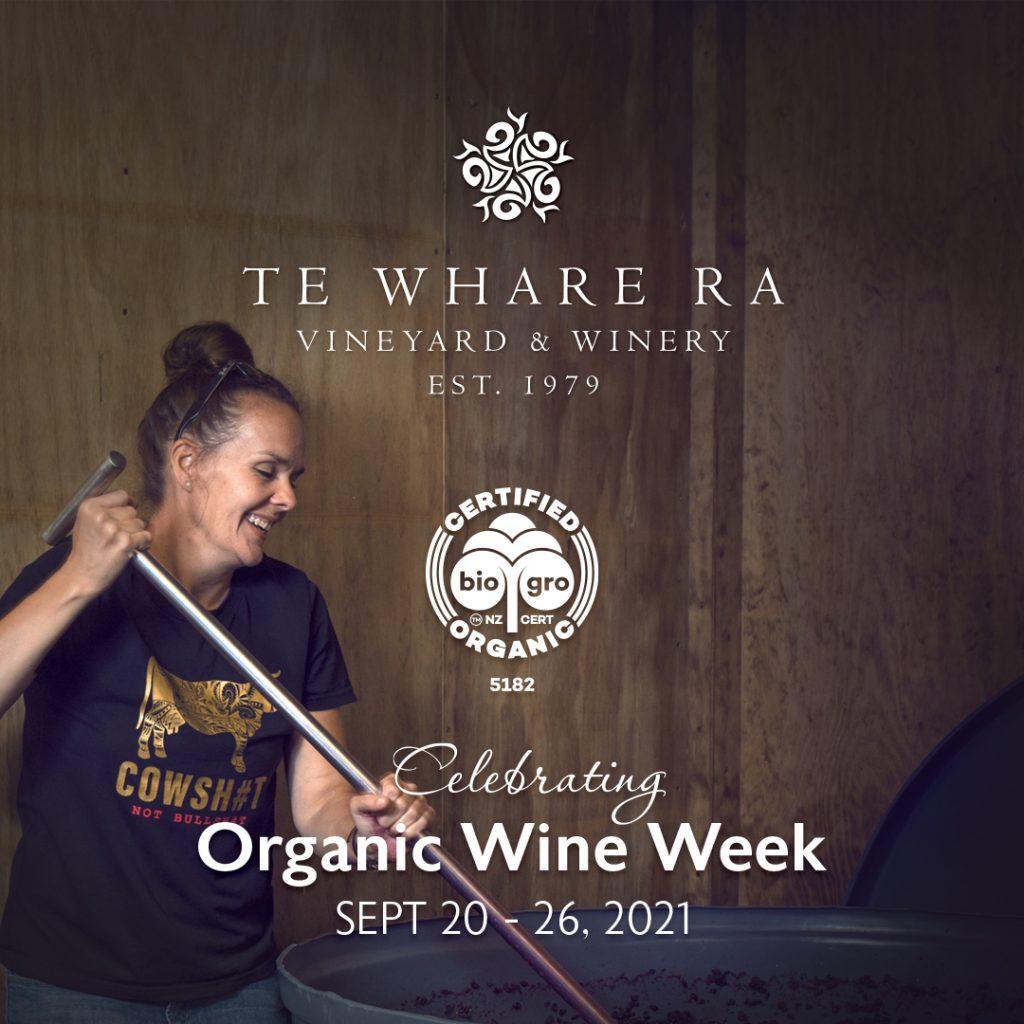 Anna Flowerday of TWR celebrating NZ Organic Wine Week
